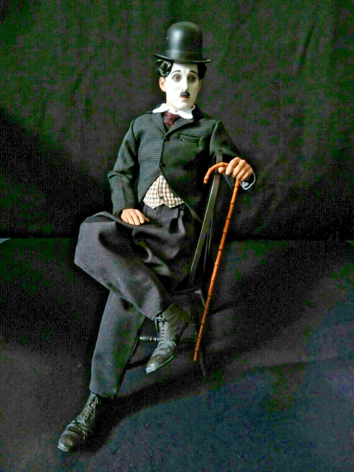ZCWO Charlie Chaplin 1 6 Scale Collectible Action Figure (w  MINOR DAMAGED HAT)