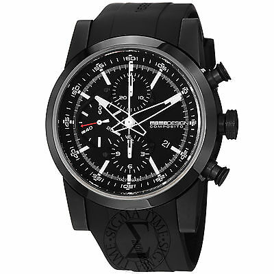 Momo Design Men's Composito Black Rubber Strap Chronograph Watch MD280BK-01BKBK