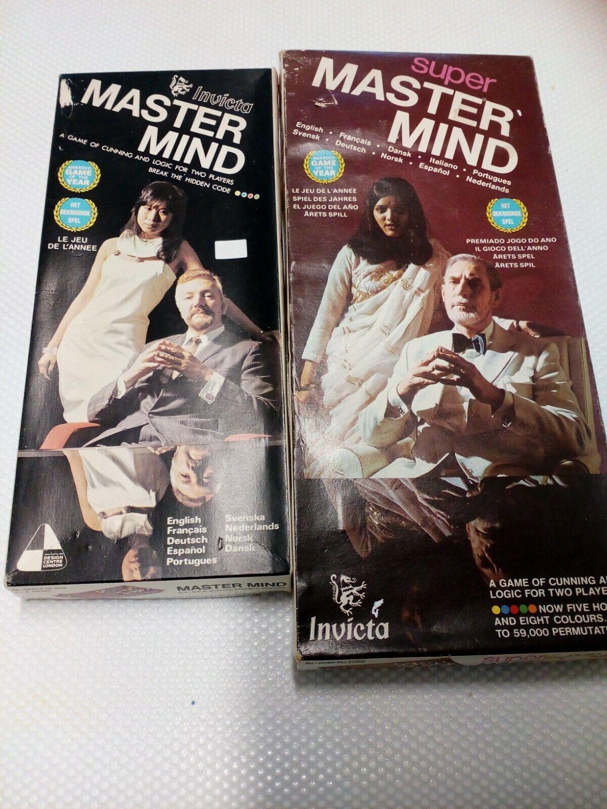 INVICTA Master Mind E SUPER  MASTER MIND 1972 e 1975  ottima selezione e consegna rapida