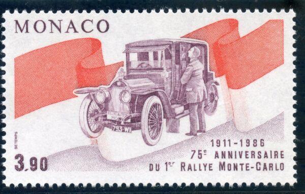 20timbre De Monaco N° 1534 ** Rallye Automobile / Rougier Et Sa Turcat Mery éLéGant Dans Le Style