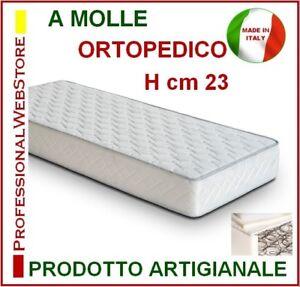 Dettagli su MATERASSO SINGOLO A MOLLE cm 90 x 205 210 215 h 23 ORTOPEDICO  SU MISURA ITALIA