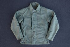 Vintage A-2 Deck Jacket Size S M Woodland A2 A-1 USN USAF 80s US Military