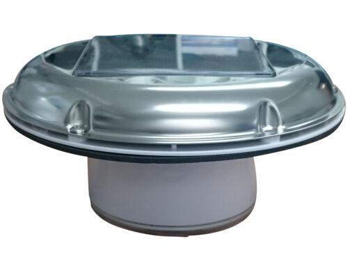 STAINLESS STEEL SOLAR FAN LED WHITE LIGHT HOME,MARINE,BOAT,MOTORHOME /& CARAVAN