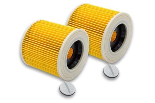 2x Patronen-Filter für Kärcher A 2604 A 2654 Me