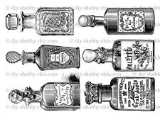 FURNITURE DECAL SHABBY CHIC IMAGE TRANSFER PERFUME BOTTLES STICKERS ATOMIZER DIY