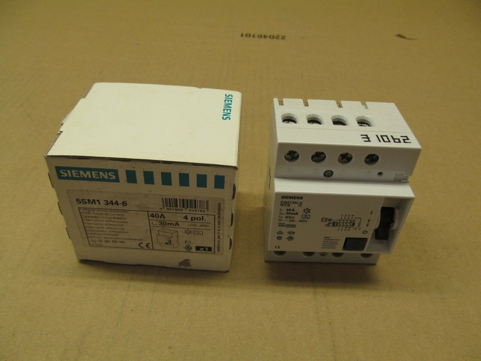 Siemens 5sm1344 6 Fi Switch 40a 30ma Circuit Breaker Ebay Used Breakers Ite E43b060 60 Amp 3 Pole Norton Secured Powered By Verisign