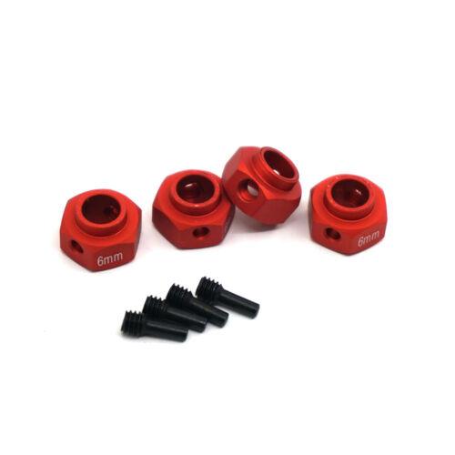 4Pcs 12mm Alloy Metal Hex Wheel Hubs For Traxxas TRX-4 1:10 RC Crawler 6mm Thick