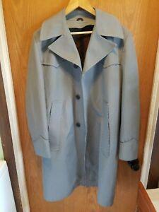 Vintage-Raschel-Sheplers-mens-overcoat-gray-black-houndstooth-36R-western-cowboy