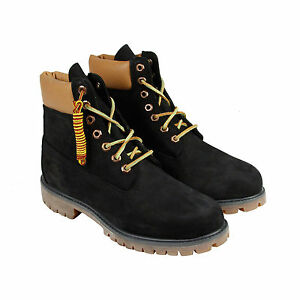 timberland 6 quot premium boot mens black leather casual dress