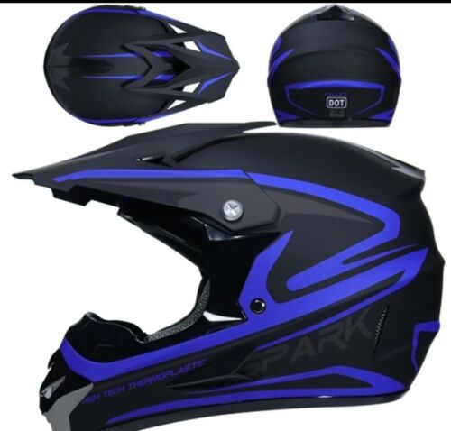 Motocross Racing Helmet Spark Extreme Sports Off Road  ATV Dirt Bike With Gift