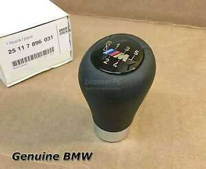 New Bmw E46 Motorsport Weighted 5 Speed Shifter Knob Leather 330ci 1999 2003 Oem Ebay