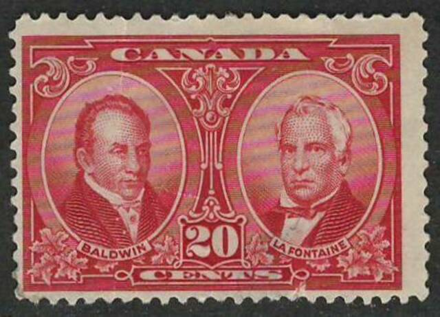 CANADA 1927 CLEARANCE  Fine Mint Hinged Stamp Scott # 148  Baldwin & Lafontaine