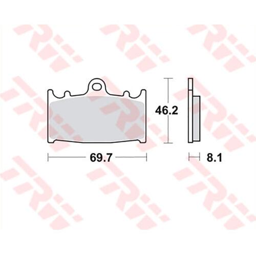 2x TRW Bremsbeläge vorne Kawasaki ZZR 1200 ZXT20C 02-05