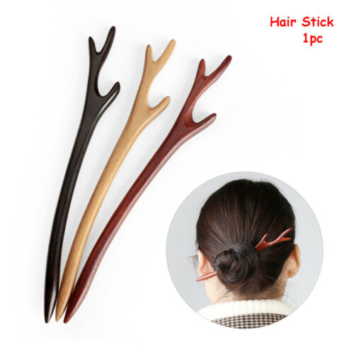 Women/'s Vinatge Wooden Handmade Carved Hair Stick Hairpin Wood