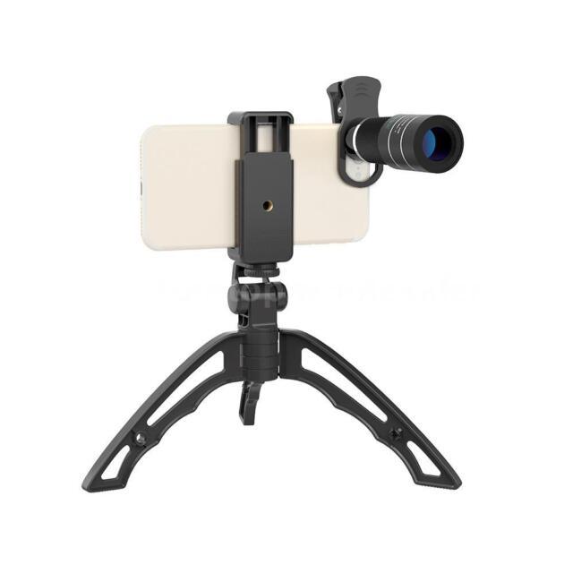 APEXEL Portable 20X Telephoto Telescope Clip Lens +Tripod Kit For Cellphone Z8D3