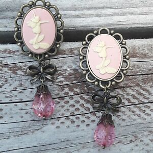 Pair-of-Cameo-Dangle-Fairies-Tree-of-Life-Ear-Plugs-Gauges-Tunnels-USA