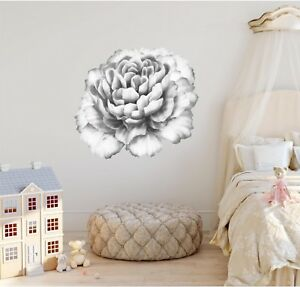Watercolor Pink Peony Flower 2 Wall Decal Removable Wall Sticker Floral Nursery