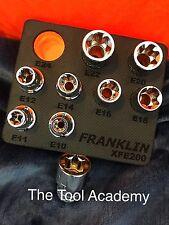 FRANKLIN TOOLS  STAR TORX SOCKET SET E10 - E24 IN STORAGE FOAM - 1/2 DRIVE