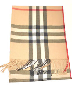 New-Pashmina-Scarf-Shawl-Veil-Beige-Quality-Wrap-Woman-Men-Plaid-Accessory