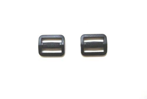 25 x 20mm Triglide Black Plastic 3 Bar Slides For Webbing Bag Straps Fastenings
