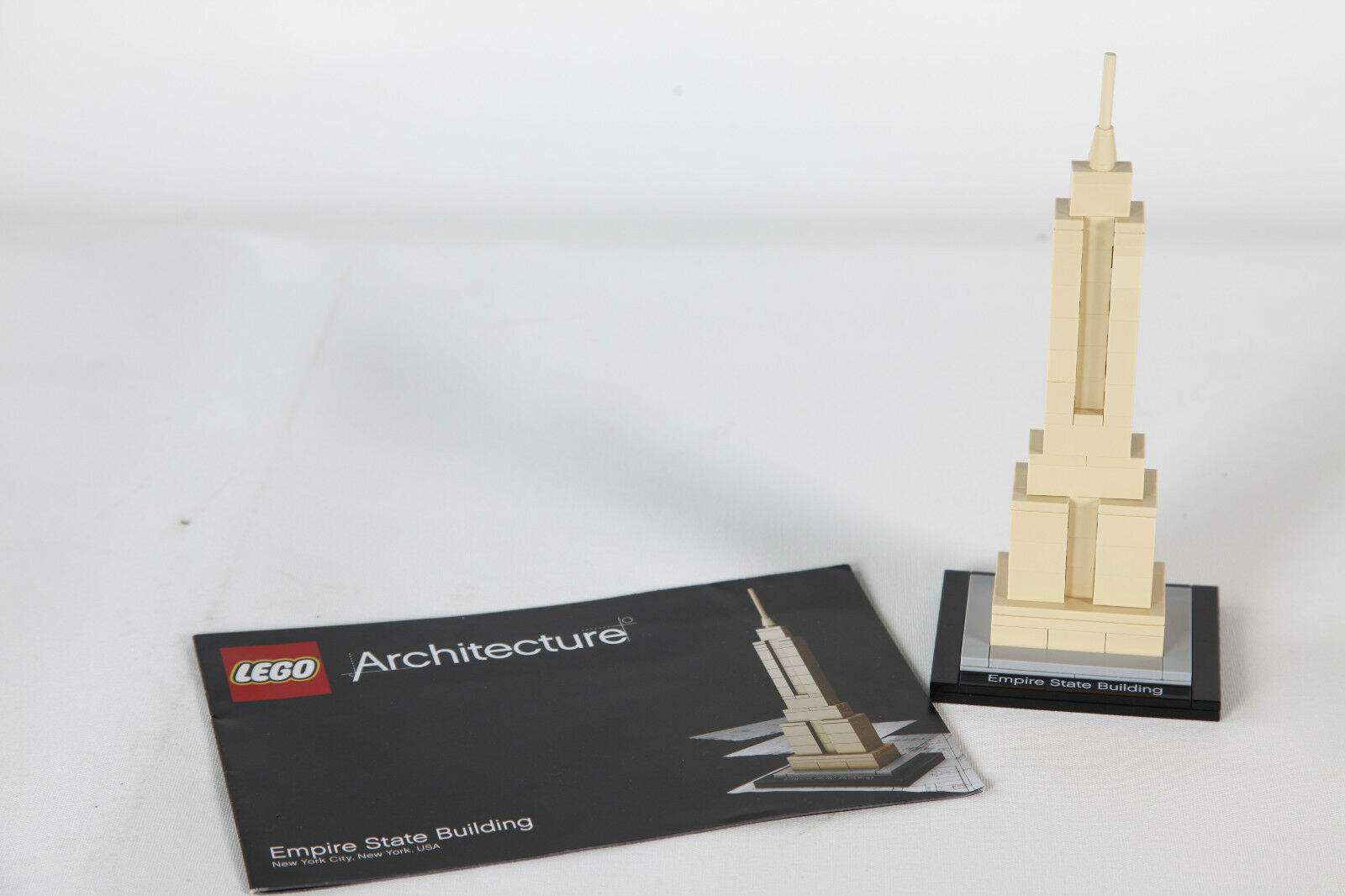 Lego 21002 Empire State Building USA  zusammengebaut + Anleitung 3716