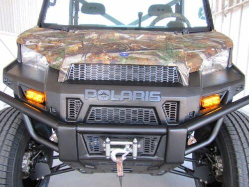 Horn 09-14 Polaris Ranger XP HD Crew 6x6 Diesel 5F4R LED Turn Signal Light Kit