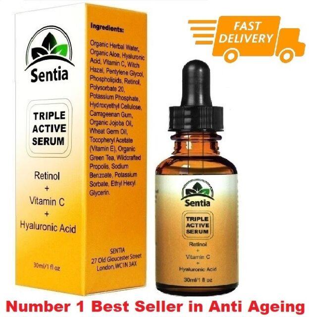 Vitamin C skin Serum cream Retinol 2.5% & Hyaluronic Acid. Anti Aging / Wrinkle
