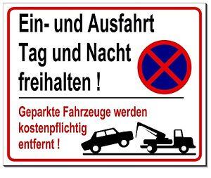 Ausfahrt-Parkverbot-Schild-Aluminium-Warnschild-Parken