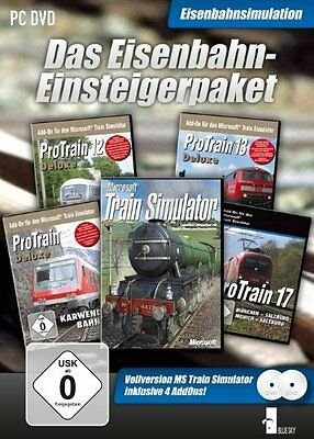 Eisenbahn Einsteigerpaket MSTS HP + 4 Strecken - Simulator - PC - deutsch - Neu