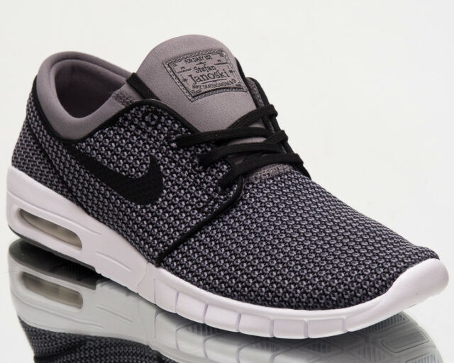 1942ddac88 ... good nike sb stefan janoski max mens new shoes men grey black white  kicks 631303 024