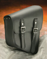 Single Side Saddlebag, Thick Right Side, Black Composite For Softail Or Rigid
