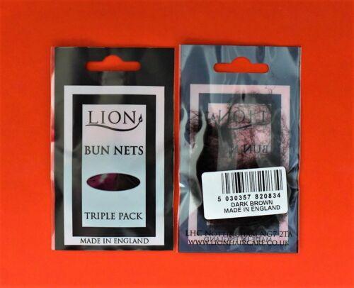 Lion One Size 2 x 3 pack Dark Brown Very Fine 6 x Bun Nets Ballet // Dance