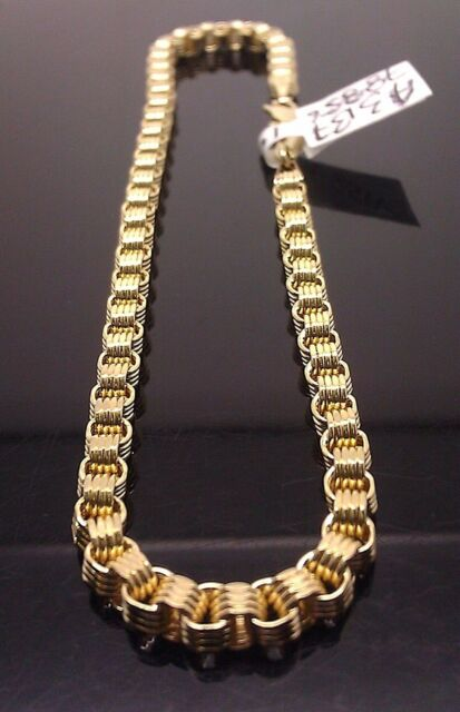 New 8 Inches 10k Yellow Gold Byzantine,Rope, Cuban Bracelet For Men's/Women's