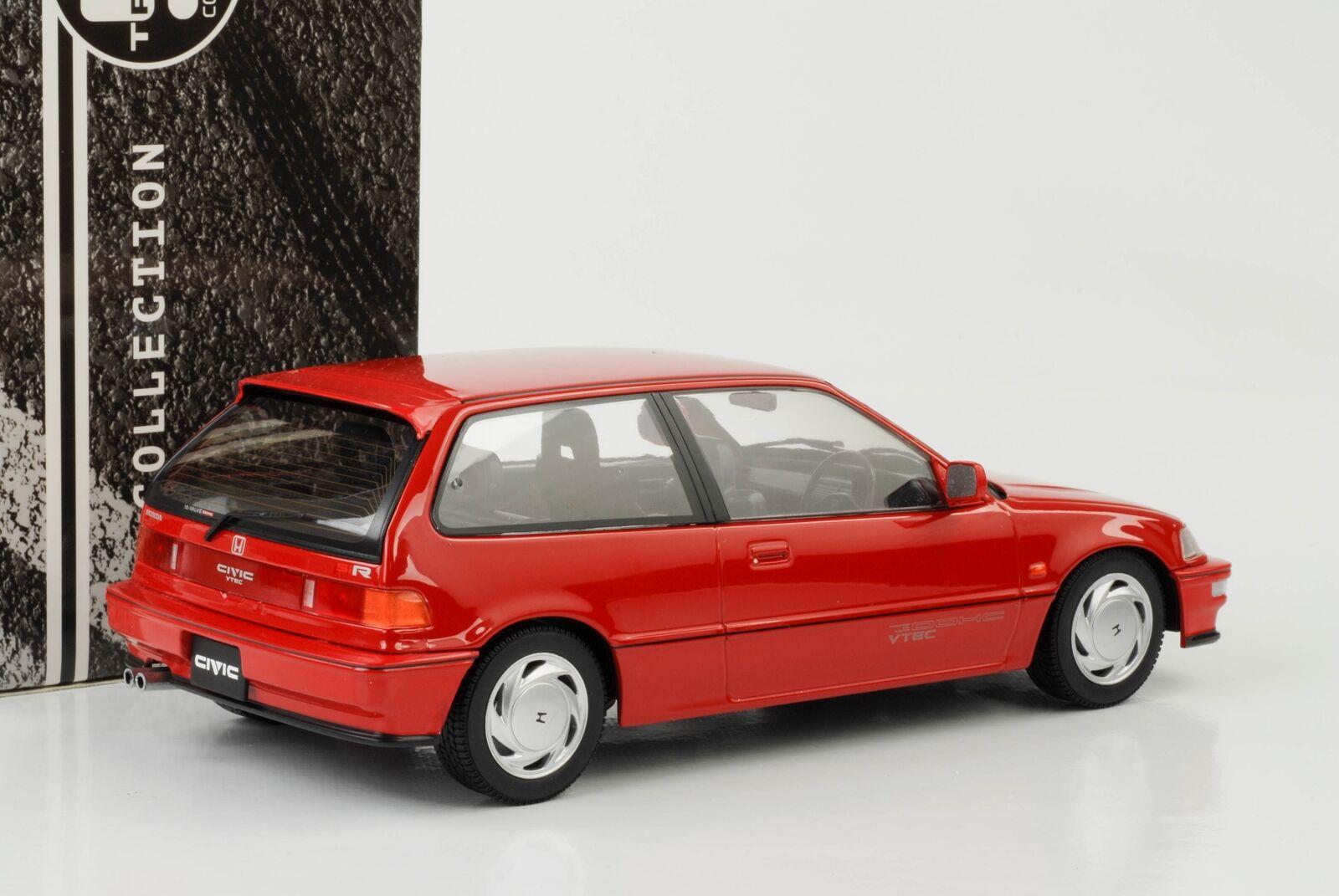 Honda Civic ef9 Sir VTEC 1990 Rouge 1 18 Triple 9 MODELE 1800105