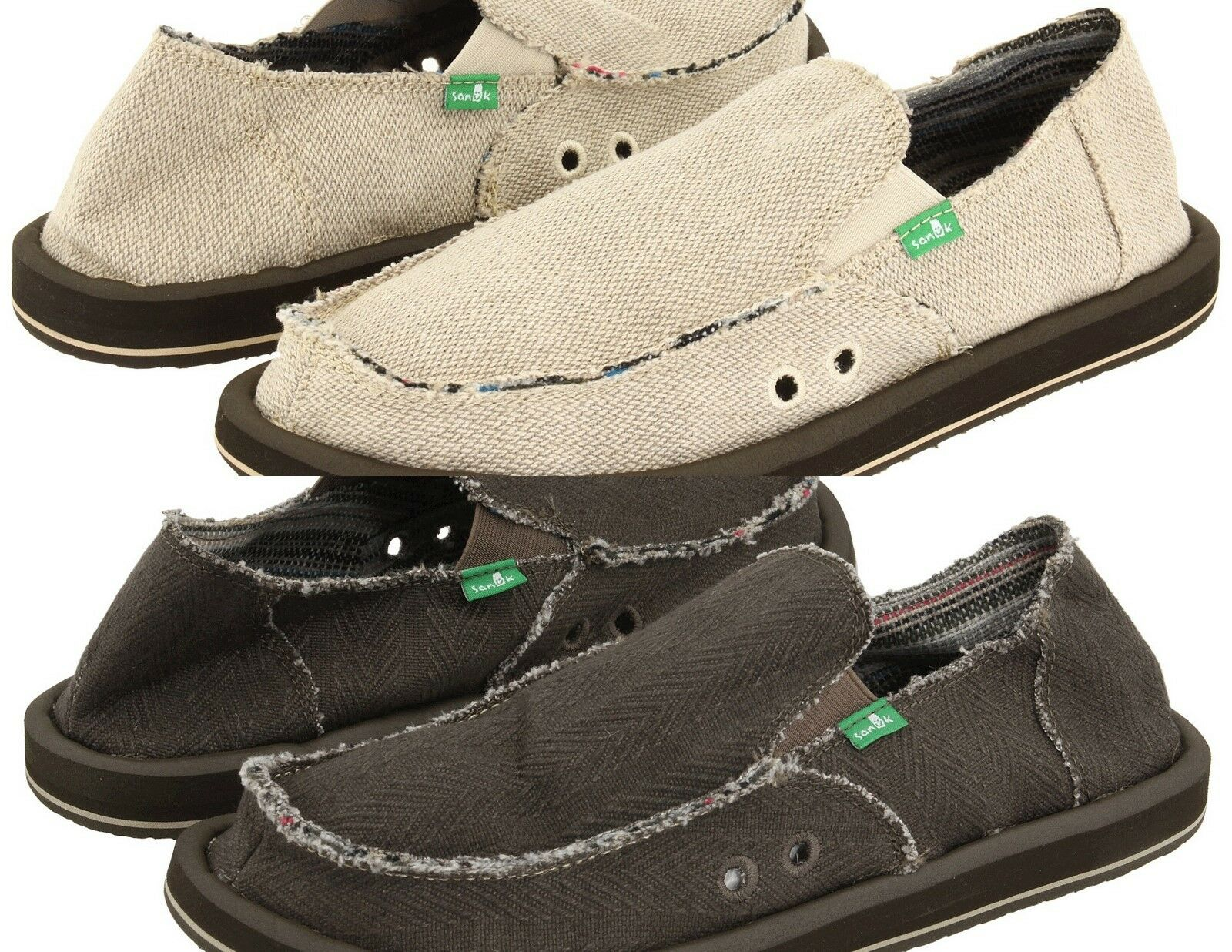 Sanuk Hemp Men's Sidewalk Surfer Slip-on Loafer Medium (D, M)