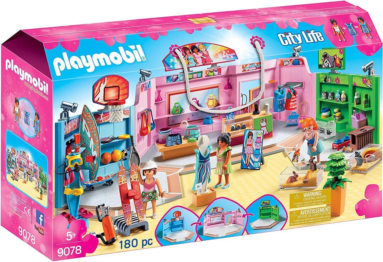 Playmobil City Life 9078. Promenade commerciale avec trois boutiques Plus de 5