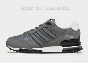Adidas-ZX-750-Grey-Black-White-Men-039-s-Trainers-All-Sizes