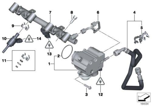 MINI Genuine Feed Fuel Hose Line To High-Pressure Fuel Pump 13537605189