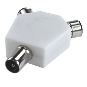 Coaxial-TV-Aerial-Splitter-Male-to-2-x-Female-Adapter-RF-COAX-T-Y-Splitter
