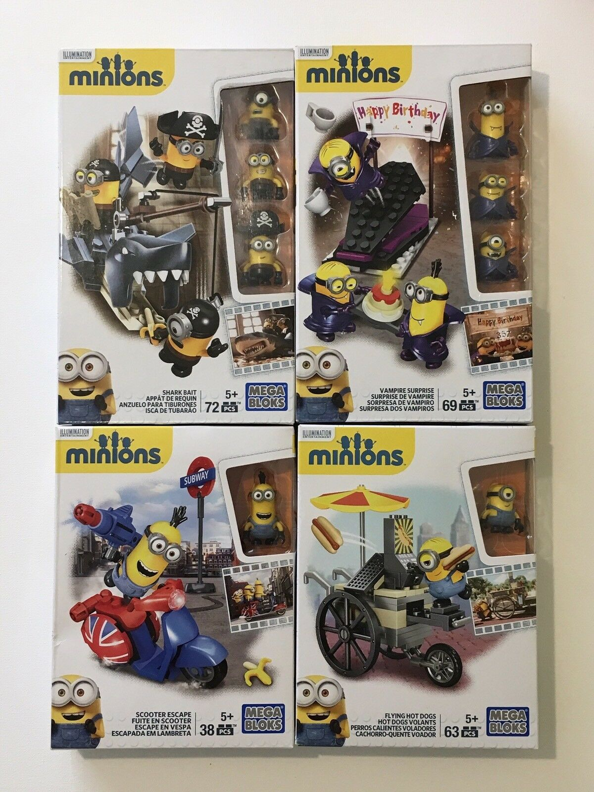 Mega Bloks-Minions - 4 Set Bundle-Entièrement NEUF dans sa boîte-voir description pour plus de détails.