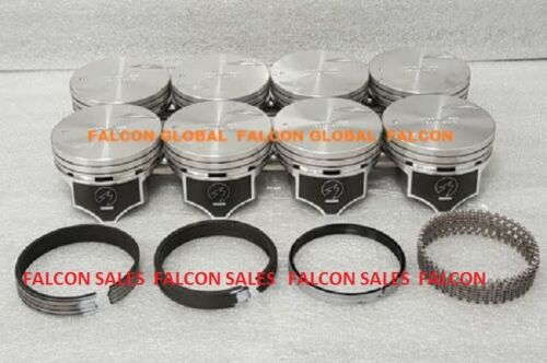 .030 Chevy 7.4 454 Sealed Power Hypereutectic Pistons+MOLY Rings 1996*-2000