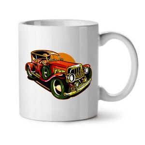 Vintage Car NEW White Tea Coffee Mug 11 oz | Wellcoda