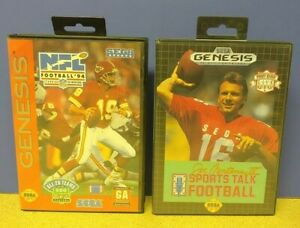 Joe Montana Sports Talk NFL Football  - Sega Genesis Working Tested 2 Game Lot