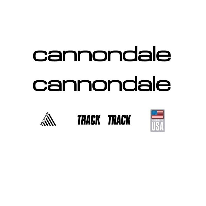 Cannondale Cannondale Cannondale piste bicyclette autocollants-transfers-autocollants, noir #12 da19c9