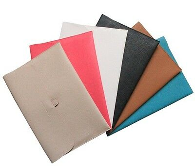 7 Colors PU Leather Case Carry Sleeve Bag Cover For Macbook Pro Air 11'' 13''
