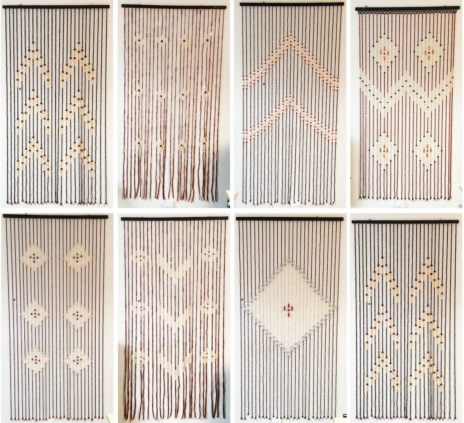 Window Bamboo Beaded String Blinds Curtains Room Door