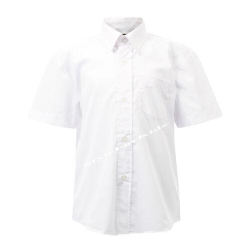 BOYS SCHOOL SHIRTS WHITE BLUE LONG//SHORT SLEEVES KIDS SCHOOL UNIFORM