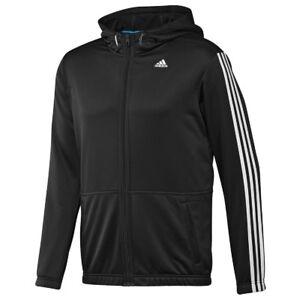Details zu adidas Herren Hooded Jacke 3 Streifen Trainingsjacke Clima365 Light Kapuzenjacke