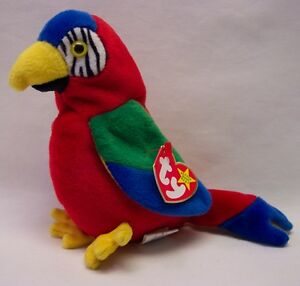 fcbcc43182a TY Beanie Baby JABBER THE COLORFUL PARROT 5