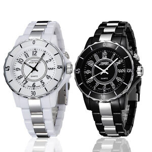 Men-039-s-Women-039-s-Stainless-Steel-Couples-Wrist-Watch-LED-Analog-Quartz-Waterproof